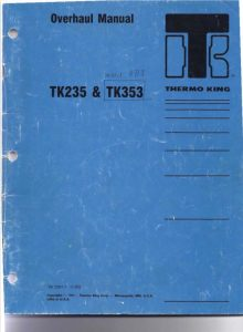 ThermoKing TK235 Diesel Engine Overhaul Manual