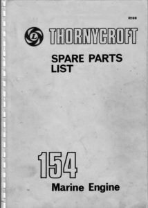 Thornycroft 154 diesel engine parts cover