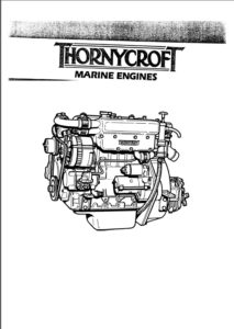 Thornycroft 90 marine diesel engine cover