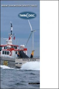 Twin Disc Marine Transmission Capacity Tables