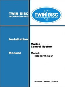 Twin Disc EC200 Engine Control Installation Manual