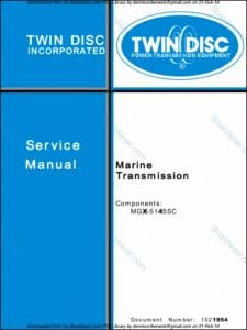 Twin Disc MFGX-5145SC marine transmission Service manual
