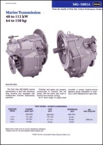 Twin Disc MG-5005A marine transmission Brochure 1999
