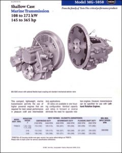 Twin Disc MG-5050 marine transmission Brochure