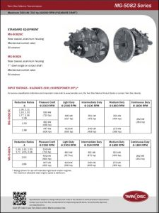 Twin Disc MG-5082 marine transmission Series Brochure