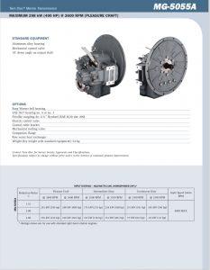 Twin Disc MG5055A marine transmission Sheet