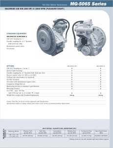Twin Disc MG5065 marine transmission Information Sheet