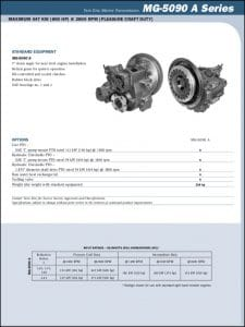 Twin Disc MG5090A marine transmission Technical Sheet