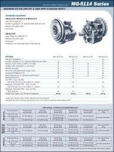 Twin Disc MG-5114 marine transmission Technical Sheet
