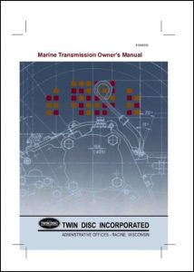 Twin Disc marine transmission Owners Manual 2008