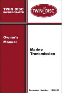Twin Disc Marine Transmission (Marine Gearbox) Owners Manual