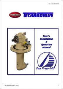 Twin Disc Sea Prop 60 saildrive Installation & Operation Manual