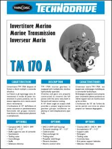 Twin Disc TM 170A marine tranmmission Brochure