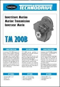 Twin Disc TM 200B marine transmission Brochure