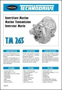 Twin Disc TM 265 marine transmission Brochure