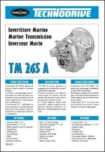 Twin Disc TM 265A marine transmission Brochure