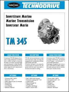 Twin Disc TM 345 marine transmission BrochureTwin Disc TM 345 marine transmission Brochure