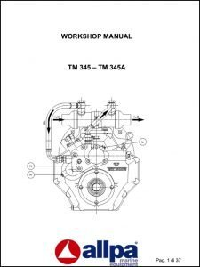 Twin Disc TM 345 marine transmission Workshop Manual
