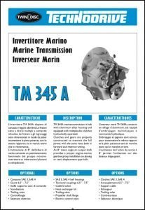 Twin Disc TM 345A marine transmission Brochure