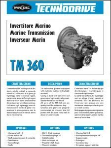Twin Disc TM 360 marine transmission Brochure