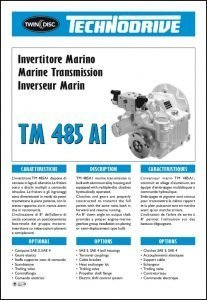 Twin Disc TM 485 A1 marine brochure Brochure