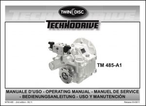 Twin Disc TM 485 A1 marine transmission Operating Manual