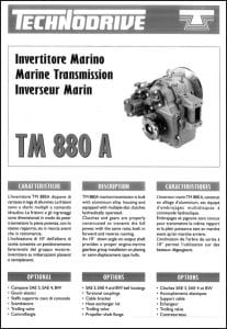 Twin Disc TM 880A marine transmission Brochure
