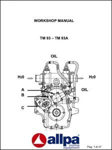 Twin Disc TM 93 marine transmission Workshop Manual