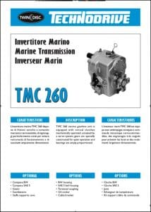 Twin Disc TMC 260 marine transmission Technical Sheet
