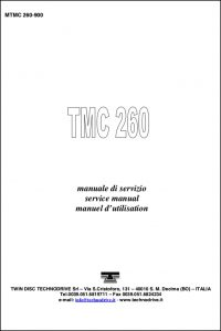 Twin Disc TMC 260 marine transmission Workshop Manual