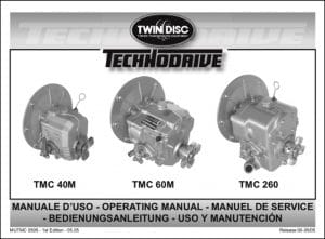 Twin Disc TMC 40 marine transmission Operating Manual
