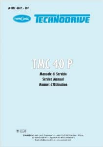 Twin Disc TMC 40P marine transmission Workshop Manual