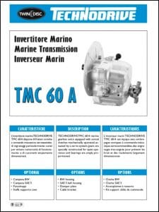 Twin Disc TMC 60A marine transmission Technical Sheet