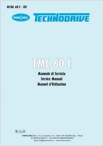 Twin Disc TMC 60E marine transmission Workshop Manual