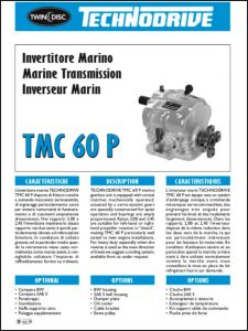 Twin Disc TMC 60P marine transmission Technical Sheet