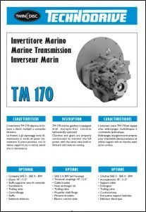 Twin Disc TM 170 marine transmission Brochure