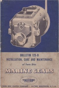 TwinDisc marine transmission gearbox 125D Installation Manual