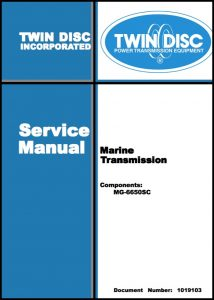 cover of TwinDisc MG-6650 SC Service Manual
