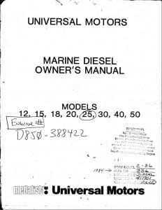 Universal Diesel Engines 12 - 50 Service Manual