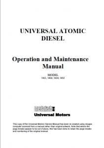 Universal Atomic 5411 diesel engine Operation and Maintenance Manual