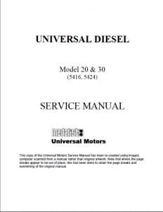 Universal Atomic 5416 diesel engine service manual