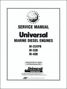 Universal M-25XPB marine diesel engine Workshop Manual