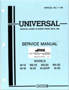 Universal M12 diesel engine Service manual