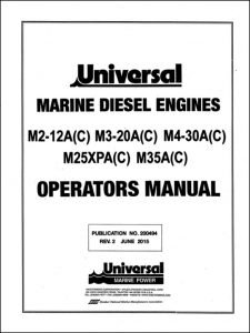 Universal M2-12A(C) marine diesel engine Operators Manual