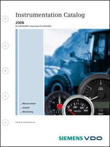 VDO Instrumentation Catalog 2008