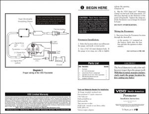 VDO Pyrometer Installation Instructions