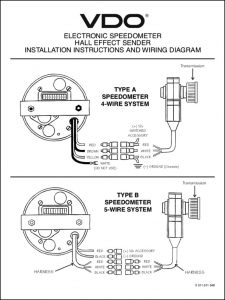 VDO Electronic Speedometer Installatio Instructions (old model)