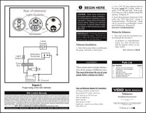 VDO Voltmeter Installation Instructions