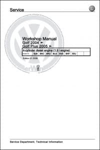 VW 1.9L Diesel Engine Service Manual