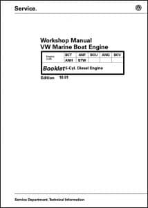 VW 150-5 Marine Diesel Engine Workshop Manual